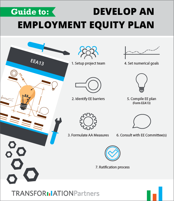 Infographic guide to develop an employment equity plan